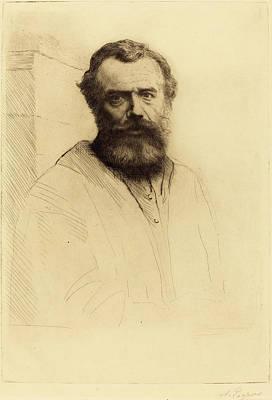 Self-portrait Drawing - Alphonse Legros French, 1837 - 1911, Self-portrait by Quint Lox