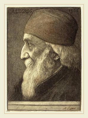 Self-portrait Drawing - Alphonse Legros, Self-portrait, 13th Plate by Litz Collection