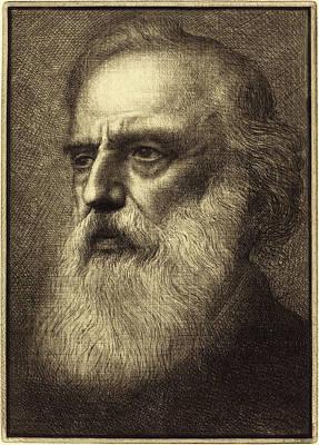 Self-portrait Drawing - Alphonse Legros, Self-portrait, 4th Plate by Quint Lox
