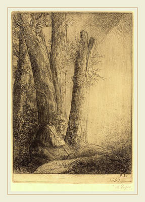 Pour Drawing - Alphonse Legros, Study For The Prodigal Son Etude Pour by Litz Collection