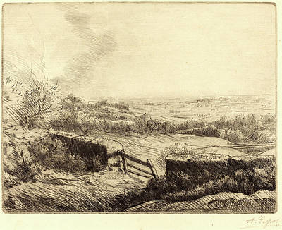 Alphonse Legros, The Gate Lentree Du Champ Art Print by Litz Collection
