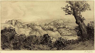 Alphonse Legros, Top Of The Hill Le Haut De La Colline Art Print by Quint Lox