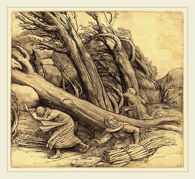 Tornado Drawing - Alphonse Legros, Tornado Le Typhon, French by Litz Collection