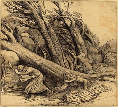 Tornado Drawing - Alphonse Legros, Tornado Le Typhon, French by Quint Lox