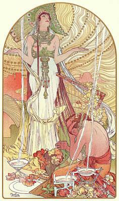 Mucha Drawing - Alphonse Mucha Czech, 1860 - 1939. Incantation Salammbo by Litz Collection