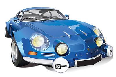 Renault Alpine A110 Image Art Print by Alain Jamar