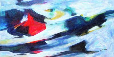 Alpine Skier Painting - Alpine Avalanche by Jon David