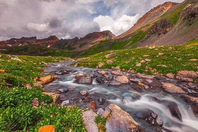 Alpine Creek Art Print by Darren  White