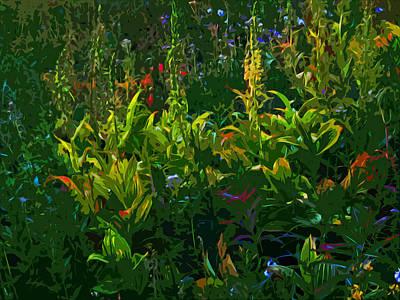 Alpine Flowers Original by Anne Havard