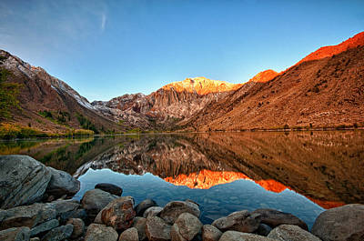 Photograph - Alpine Glow Convict Lake by James Hammond