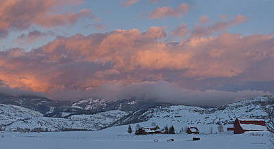 Alpine Glow Over Elk Mountain Meadows Art Print