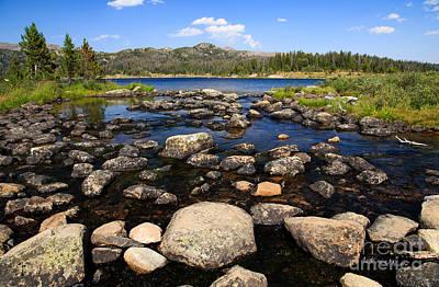 Photograph - Alpine Lake by Edward Fielding