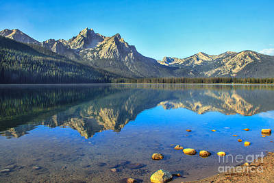 Alpine Lake Reflections Art Print by Robert Bales