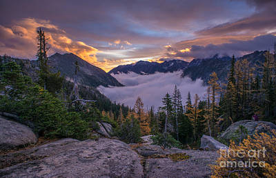 Horseshoe Lake Photograph - Alpine Lakes Morning Cloudscape by Mike Reid