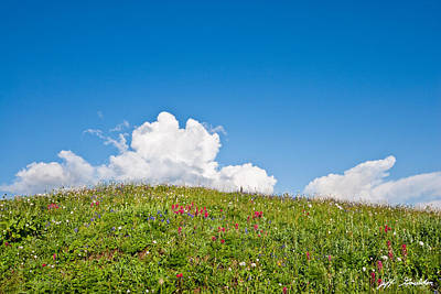 Alpine Meadow And Cloud Formation Art Print