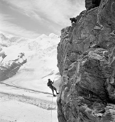 Ambition Photograph - Alpine Mountaineers, 1954 by Granger