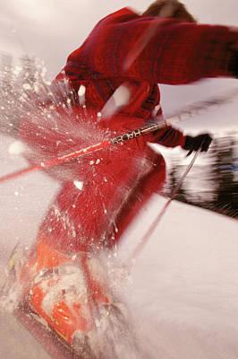 Alpine Skiing - Colorado Art Print