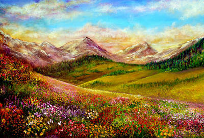Oil Painting - Alpine Spring by Ann Marie Bone