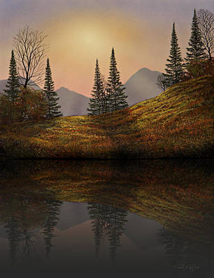Photograph - Alpine Sunset Reflections by Frank Wilson