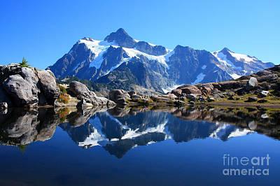 Photograph - Alpine Tarn by Frank Townsley
