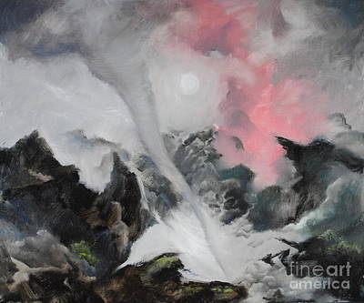 Painting - Alpine Tornado by Roger Clark