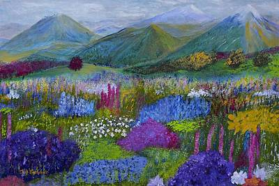 Alpine Wild Flowers Original by Dick Bourgault