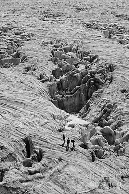 Photograph - Alpinists On Glacier by Camilla Brattemark