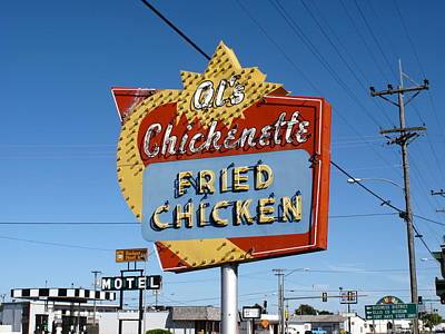 Photograph - Hays Kansas - Al's Chickenette by Frank Romeo