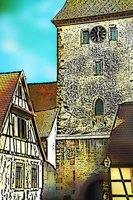 Photograph - Alsatian Village  Bergheim by Selke Boris