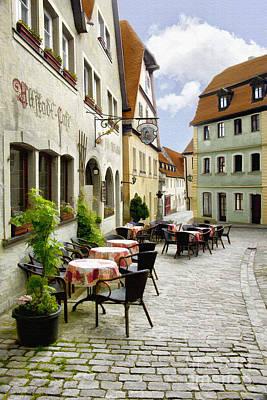 German Village Photograph - Alstadt Cafe by Sharon Foster