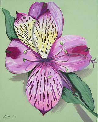 Painting - Alstroemeria No.1 by J Linder