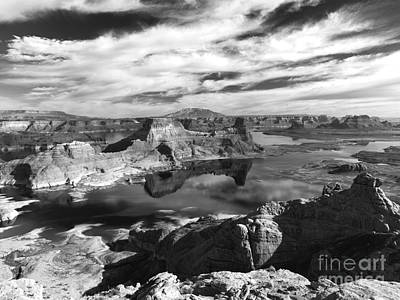 Photograph - Alstrom Point - Bw by Benedict Heekwan Yang