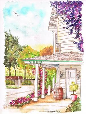 California Vineyard Painting - Alta Maria Vineyard, Los Olivos, California by Carlos G Groppa