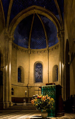 Photograph - Altar And Pulpit Of The Collegiale De Neuchatel by Charles Lupica