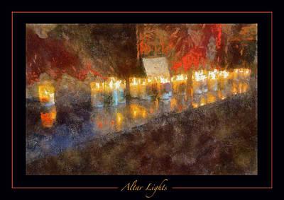 San Xavier Digital Art - Altar Lights by Rick Lloyd