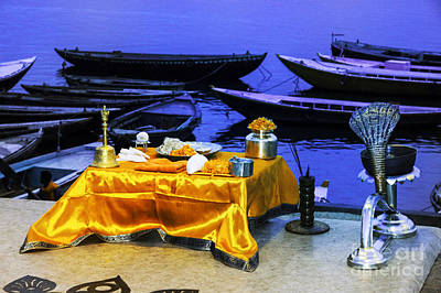 Photograph - Altar On Ganges by Rick Bragan