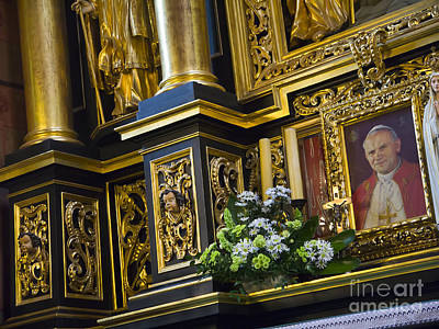 Photograph - Altar With Pope John Paul II by Brenda Kean
