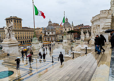 Reunification Of Italy Photograph - Altare Della Patria by Tim Fitzwater