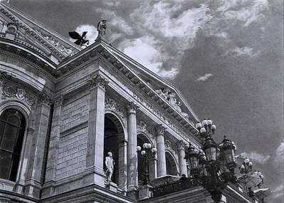 Hyperrealism Painting - Alte Oper Frankfurt by Hirokazu Tomimasu
