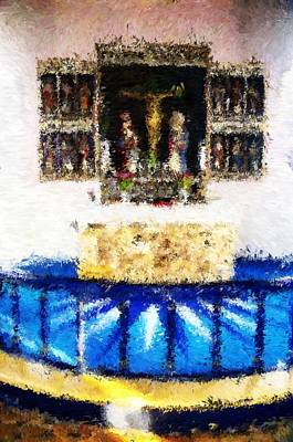 Digital Art - Alter In Grejs Church_impressionist Digital Painting by Asbjorn Lonvig