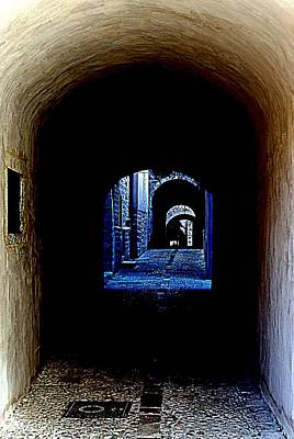 Altered Arch Walkway Art Print by Richard Rosenshein