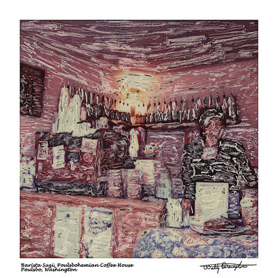 Photograph - Altered Polaroid - Barista Suzi by Wally Hampton
