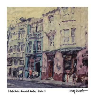 Altered Polaroid - Kybele Hotel 1 Art Print by Wally Hampton