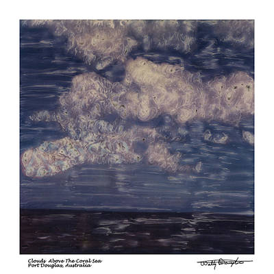 Photograph - Altered Polaroid - Clouds Above The Coral Sea - Australia by Wally Hampton