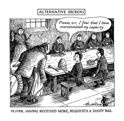 Doggy Drawing - Alternative Dickens Oliver by J.B. Handelsman