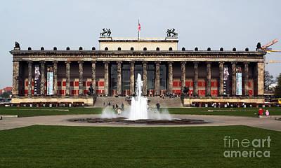 Altes Museum In Berlin Art Print by John Rizzuto