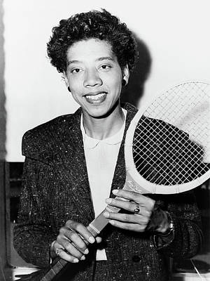 Althea Photograph - Althea Gibson (1927-2003) by Granger