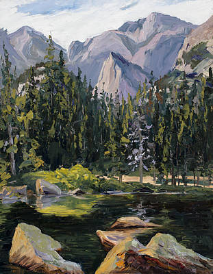Rocky Mountain National Park Painting - Altitude  by Mary Giacomini