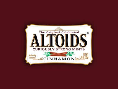 Mint Digital Art - Altoids Cinnamon by Raphael Campelo