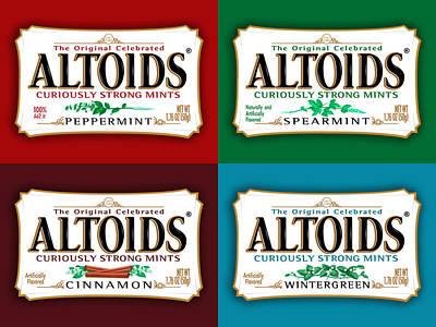 Bordeaux Digital Art - Altoids Collection by Raphael Campelo